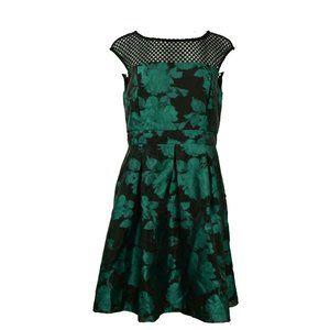 Julia Jordan Mesh Floral Top Fit & Flare Dress New